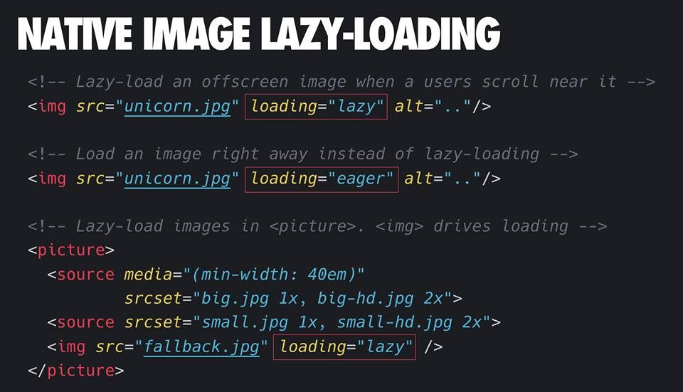 native lazyload image for web